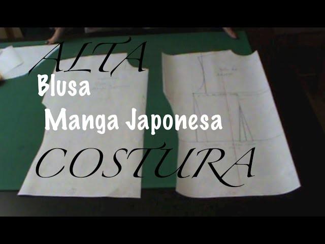 Alta Costura Clase 26B, Trazo Delantero Blusa Manga Corta Japonesa