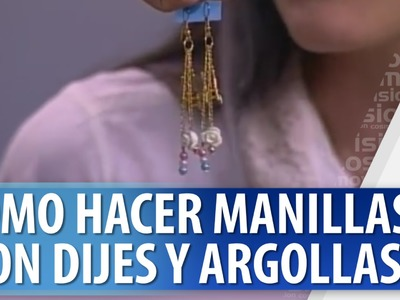 Aprende a hacer Manilla con Dijes y Argollas