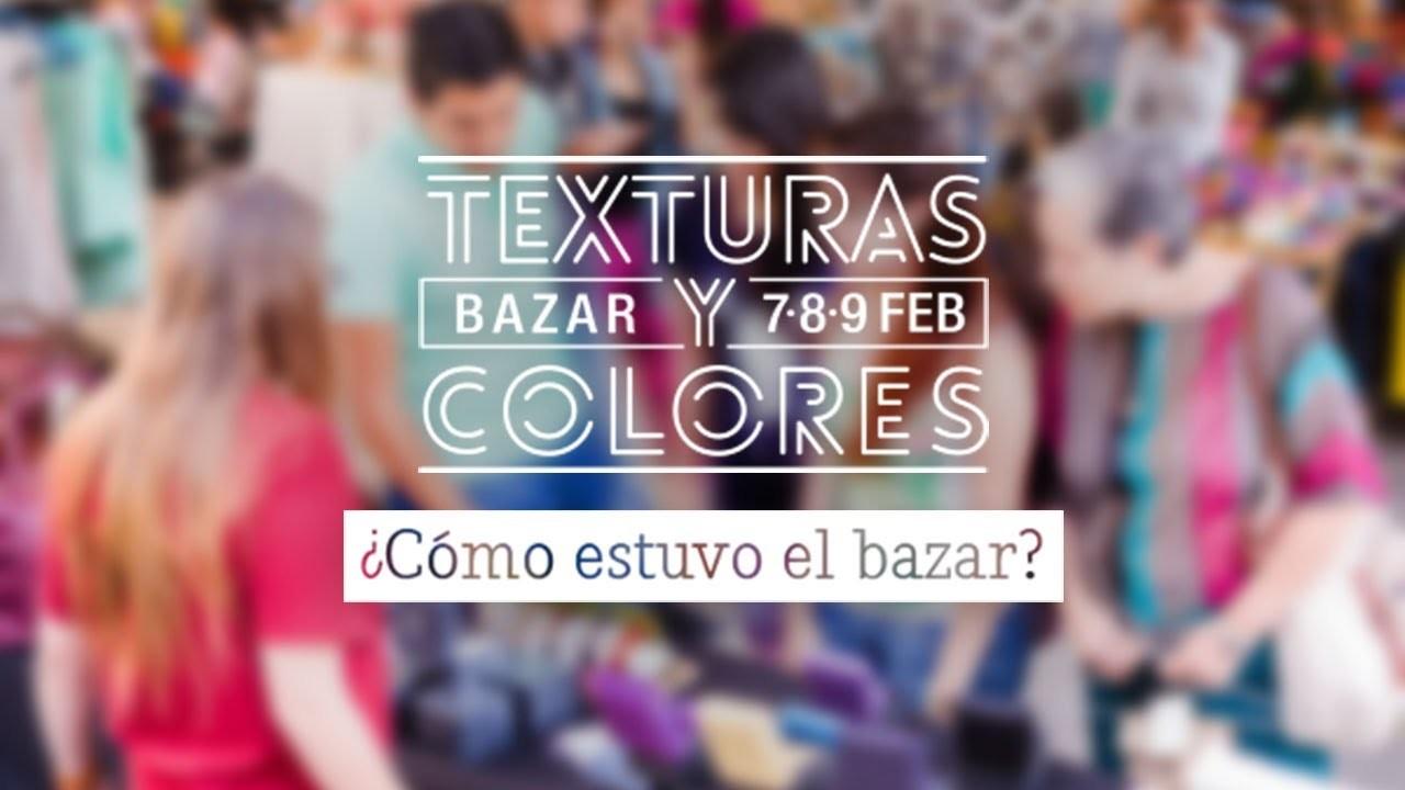 Así estuvo.  Texturas y Colores Bazar: Craftingeek*