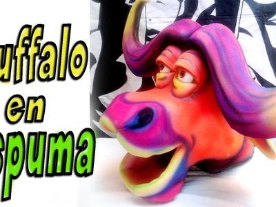 Bufalo en goma espuma - buffalo foam - gorros de goma espuma -mask buffalo