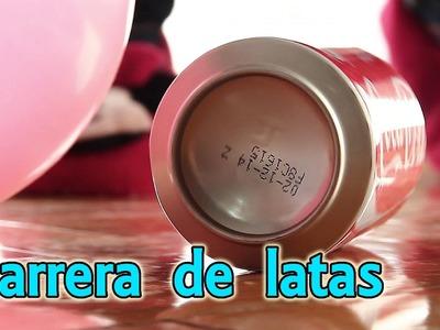 Carrera de latas (Experimentos Caseros para niños)