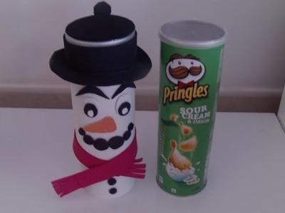 Como hacer un dulcero para navidad con un bote de pringles