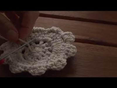 Cómo tejer un posavasos en forma de flor en croché : Técnicas de crochet
