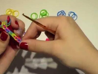 DIY pulsera gomitas Mod.Fishtail invertida