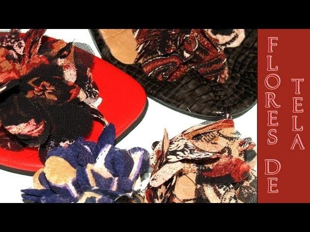 Flores de Tela para Reciclar tus Sandalias - DIY- Fabric Flowers to Recycle Sandals