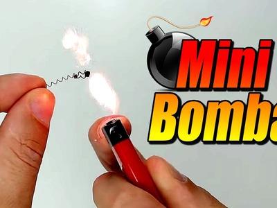 Mini bomba de chispas con un encendedor, cómo se hace
