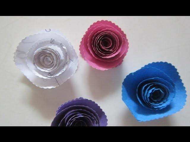Mini-Rosas en Papel de Colores ¡Funcionales para scrapbooking! -Roses of paper