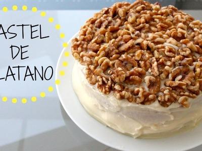 PASTEL.TORTA DE PLATANO CON NUEZ!