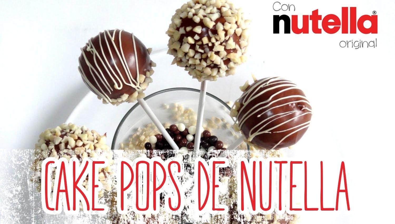 Receta: Cake pops de Nutella (Bizcobolas) -- Con almendras