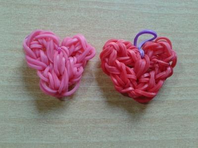 ♥ Tutorial: corazón macizo de gomitas (con telar) ♥