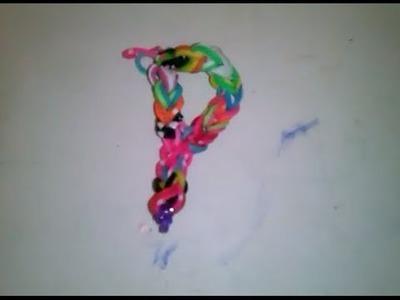 ♥ Tutorial: Hacer la letras P con gomitas (sin telar) ♥