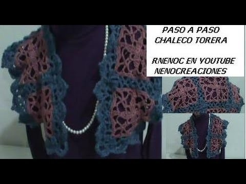 1 DE 6 COMO TEJER CHALECO TORERA CON CUADROS DISEÑO 1 GANCHILLO CROCHET, NIVEL AVANZADO