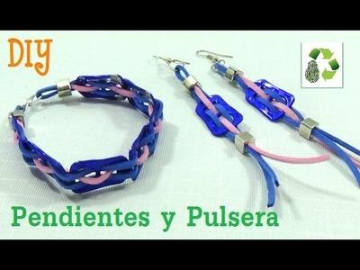 171. DIY PENDIENTES Y PULSERA (RECICLAJE DE ANILLAS)