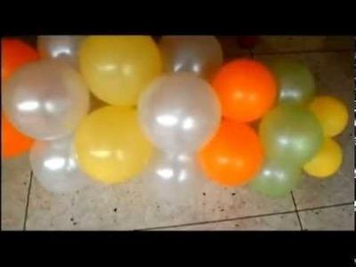 Aprende a decorar con Globos - P 50 - Parte 3.3