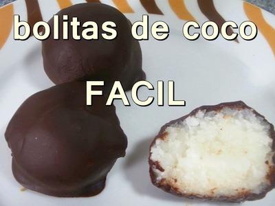 BOLITAS DE COCO - recetas de postres faciles y rapidos y economicos de hacer