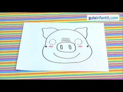 Cómo dibujar una máscara de cerdo