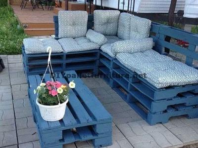 Como hacer fácilmente un sofá chaise-longue con palets enteros