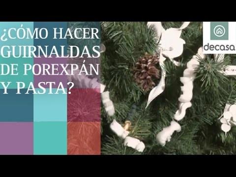 Cómo hacer guirnaldas de porexpán y pasta en Decoración navideña con Lilla Moreno