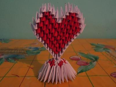 Como hacer un corazon de origami 3d