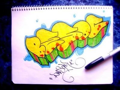 Como hacer un graffiti en papel