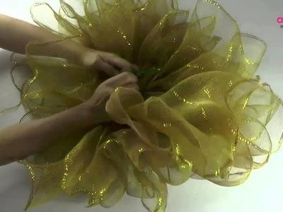 Como hacer un moño bailarina para navidad.How to make a Christmas ballerina bun