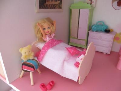 Cómo hacer una cama para muñecas. How to make a doll bed