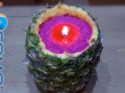Cómo hacer una vela con una piña