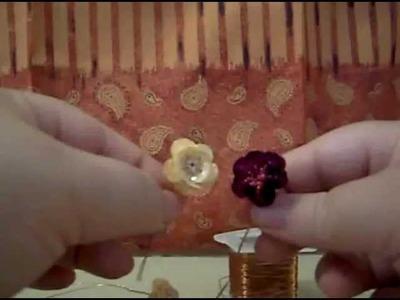 Cómo hacer unas  Rosas con lentejuela y chaquira.