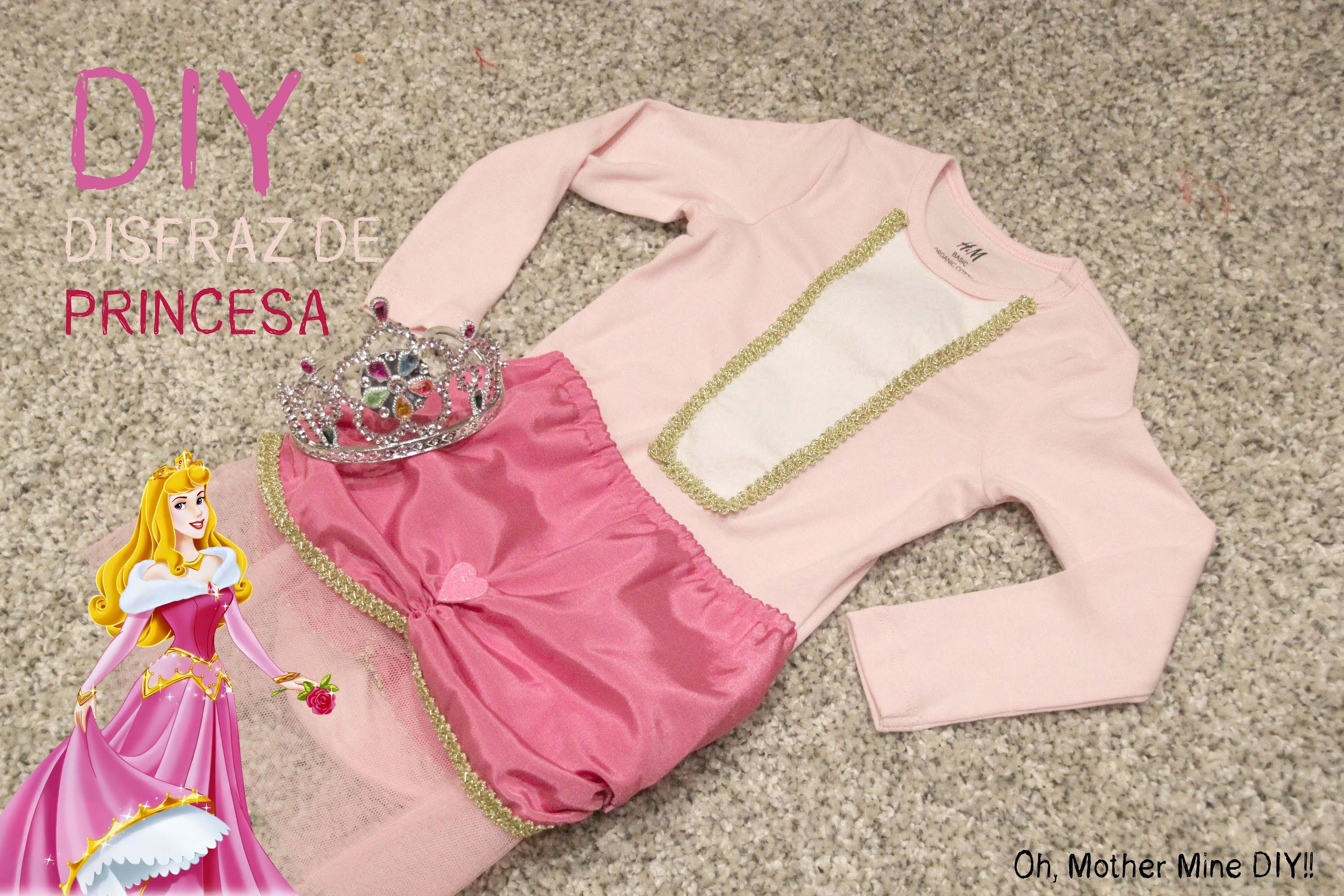 DIY Disfraces de niña para halloween PRINCESA DISNEY