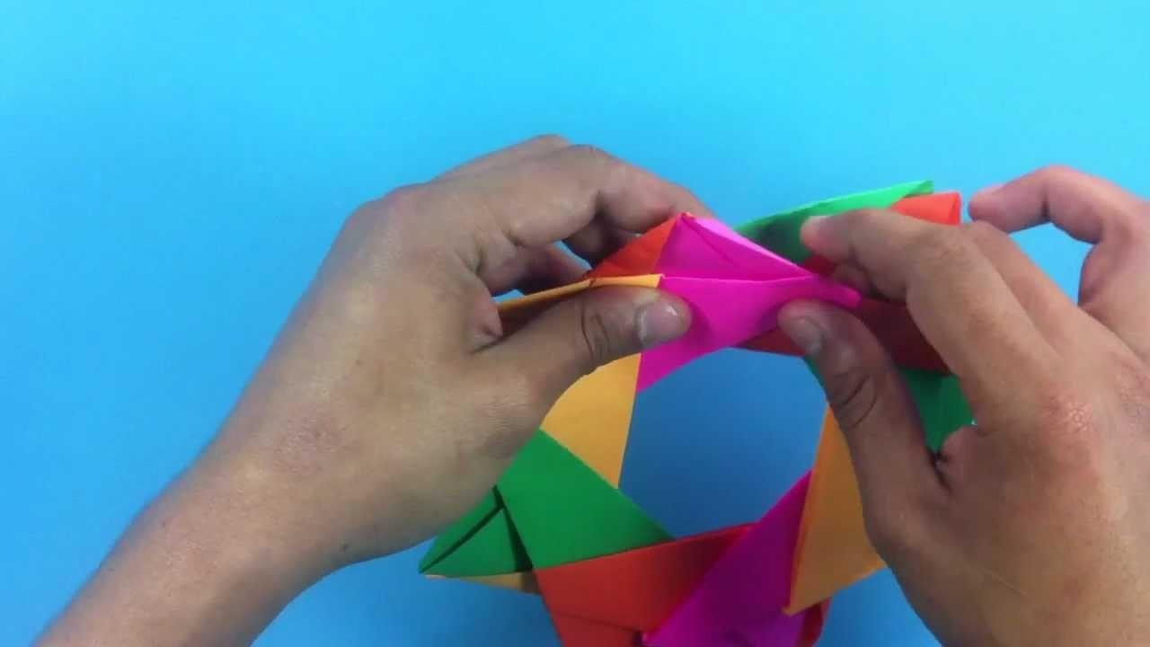 Estrella de origami - Figuras de papiroflexia