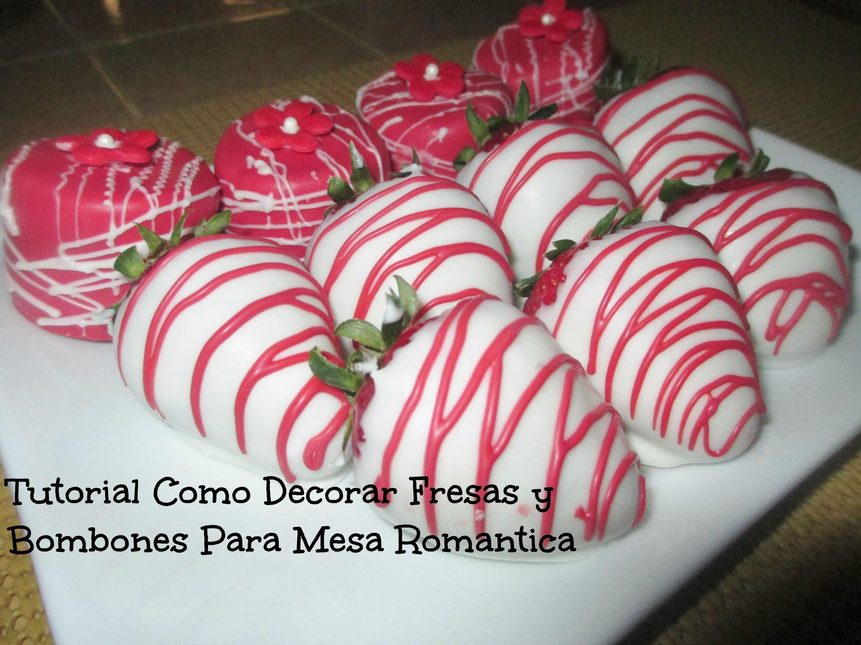 Fresas y Bombones para una Mesa Romántica - Tutorial - Madelin's Cakes