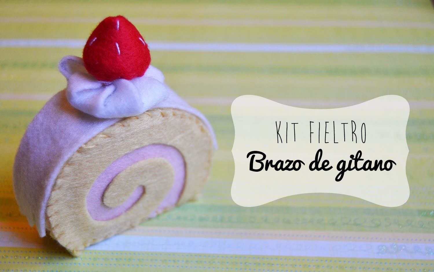 Kit de Fieltro: Roll Cake ~