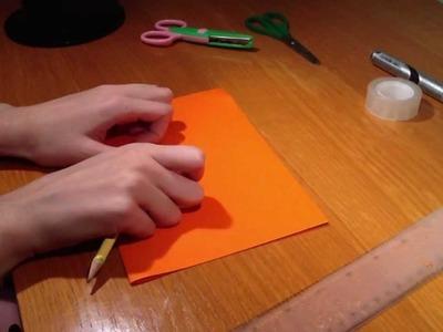 Manualidades e ideas para halloween - Calabaza de papel