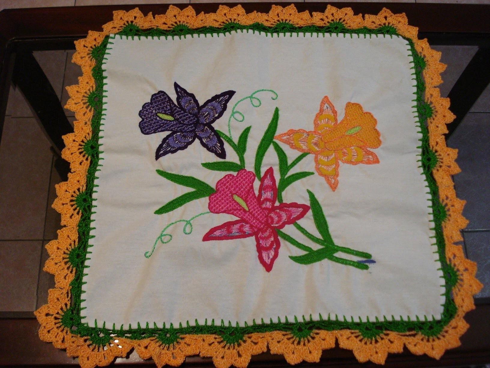 Orilla Media Flor Naranja # 29