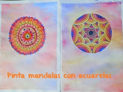 Pinta un mandala con acuarelas - Paint a watercolors mandala