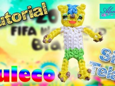 ♥ Tutorial: Fuleco (Mascota Mundial Brazil 2014) de gomitas (sin telar) ♥