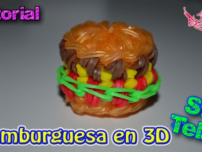 ♥ Tutorial: Hamburguesa en 3D (sin telar) ♥