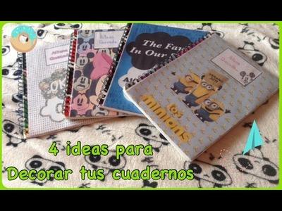 4 ideas para decorar tus cuadernos | Aitana Quezada ♥