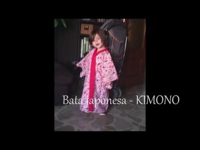 Bata japonesa para niña - Kimono facil DIY