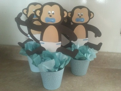 Changuitos (centro de mesa baby shower)