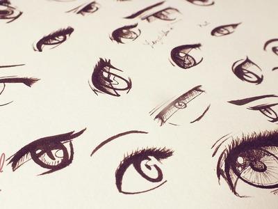 ¿Cómo dibujar Ojos tipo Manga.Anime? - Original Stuff