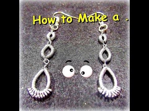 Como Hacer Pendientes en Alambre.How to Make a Wire Pending-By Puntoy Alambre.