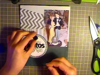 Cómo hacer un álbum de más de 100 fotos: sobre con desplegable y libro de firmas