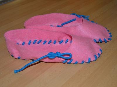 Cómo hacer unas zapatillas con fieltro | facilisimo.com