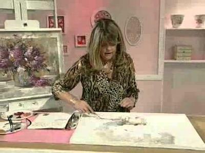 Como pintar con espátula - Cuadro Jarron con Flores Gabriela Mensaque