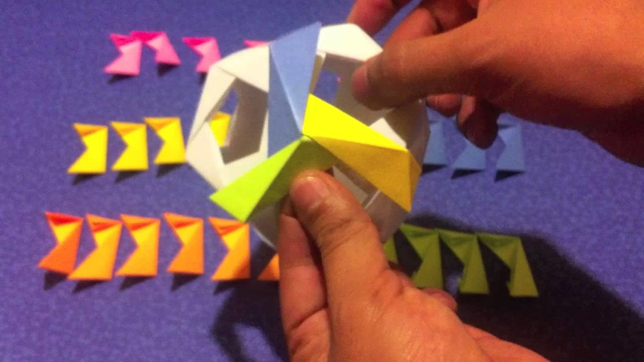 Dodecaedro de papel, fácil de hacer, origami
