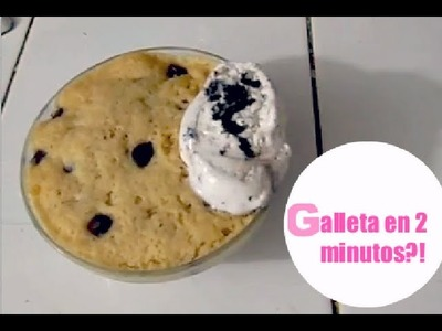 Galleta en 2 minutos- chocochip- En microondas!! Angy ♥