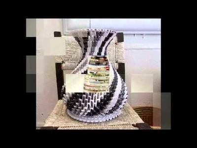 Los mejores jarrones elaborados con papel