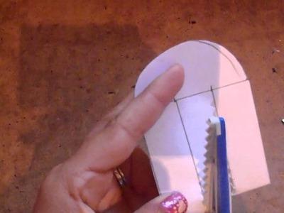 MANUALIDAD: Corazon de papel entrelazado o tejido