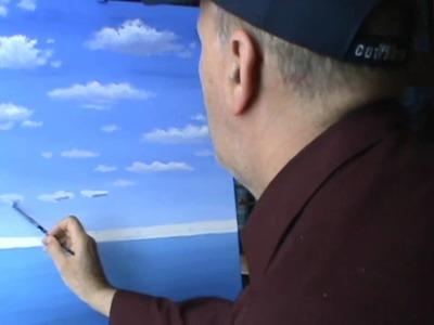 Pintar Nubes Con Acrilicos Leccion 1 de pintura arte
